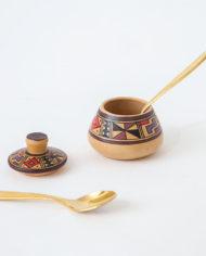 Klein handgeschilderd keramieken potje