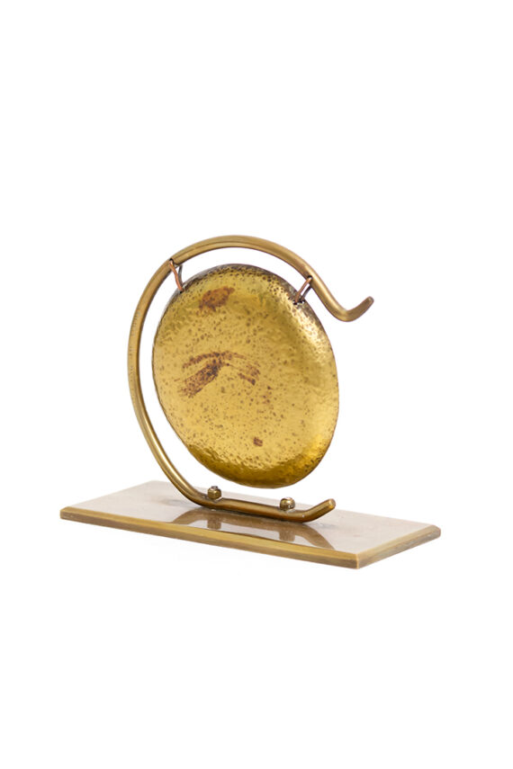 Kleine vintage gong van messing