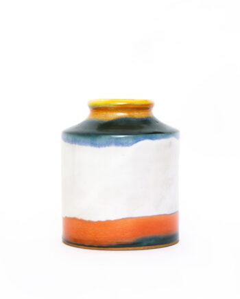 Kleurige ronde keramieken vaas van Mastro Paolo