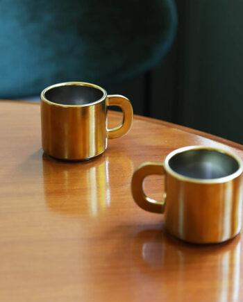 &Klevering canniken gouden mok van keramiek