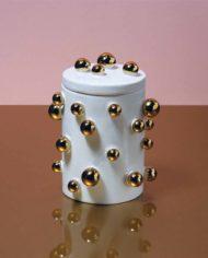 Klevering-keramieken-pot-gouden-balletjes-2