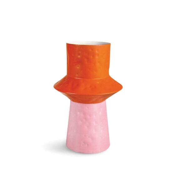 &Klevering origami vaas van metaal roze