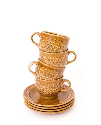 Koffiekop vintage set van 4 stuks Pagnossin Treviso Italy