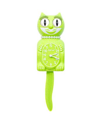 Lady Kit-Cat Klok Fun Chartreuse limoengroen met glitters