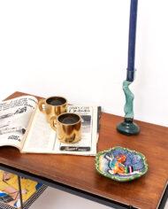 Lage vintage bijzettafel met lectuurbak Cees Braakman voor Pastoe