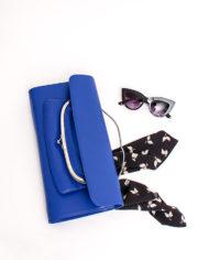 Leren Maison Margiela clutch blauw