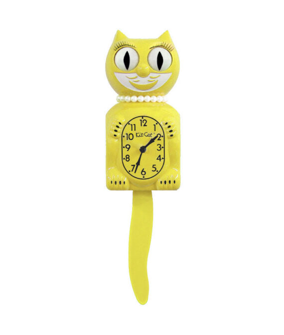 Kit-Cat Klock Majestic Yellow Lady