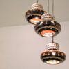 Massive 3 hanglampen vintage keramiek