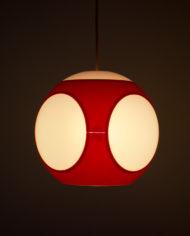 Massive Luigi Colani lamp Space Age Rood
