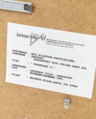 Maya Wildevuur zeefdruk Troefkaart II 1993 ingelijst