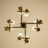 Midcentury Massive messing hanglamp / kroonluchter 'Sciolari'