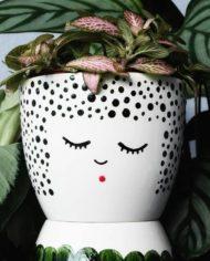 Mikamodo-bloempot-gezicht-stippen-face-planter-flowerpot-2