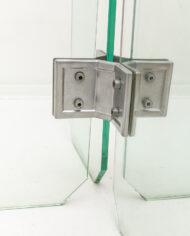 Minimalistische glazen salontafel jaren 80