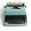 Mintgroene Olivetti-Studio 44 jaren 50 typemachine