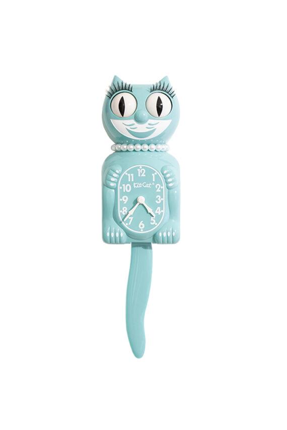 Ocean Waves Lady Kit-Cat mintgroene retro klok