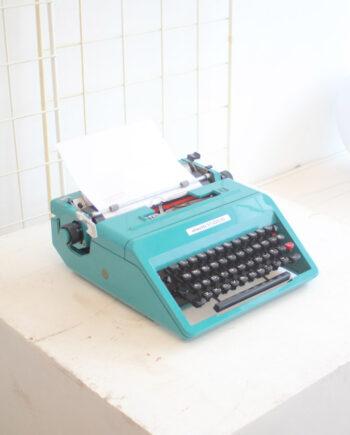 turquoise typemachine