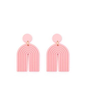 Oorbellen met roze bogen