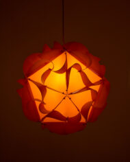 Oranje vintage Apollo lamp Woja