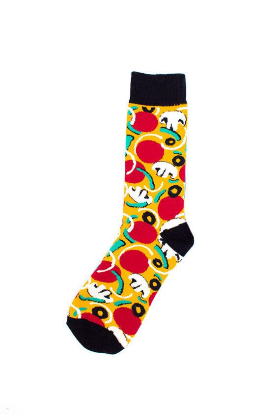 Pepperoni pizza sokken