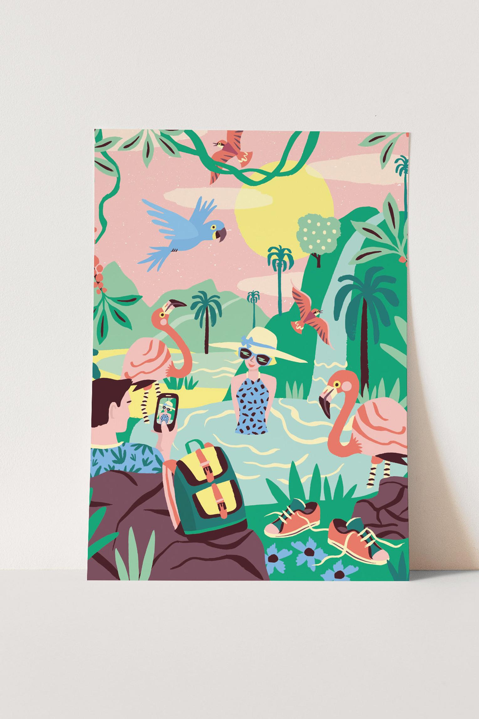 Poster A3 Tropisch Paradijs Marijke Buurlage