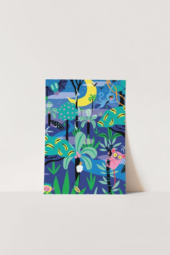 Poster A4 Jungle Marijke Buurlage