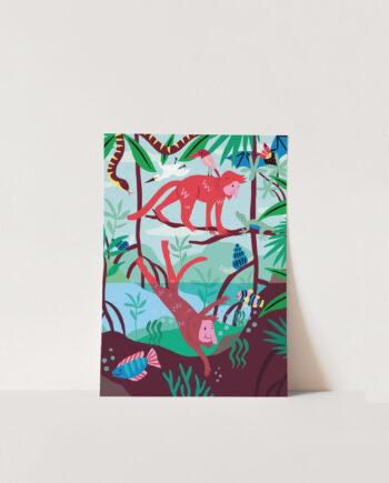 Poster A4 Mangrove Marijke Buurlage