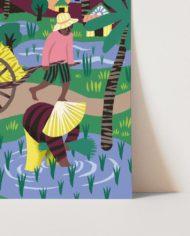 Poster A4 Rijstvelden Marijke Buurlage