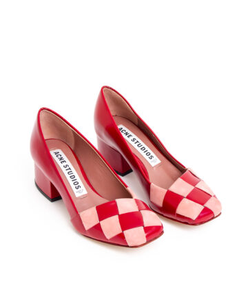 Pumps Acne Studio rood en roze leer