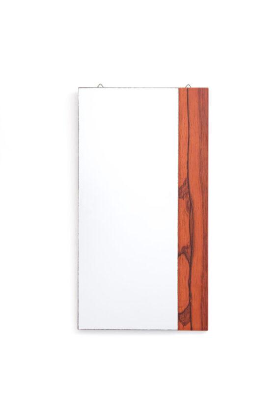 Rechthoekige spiegel jaren 60 palissanderhout