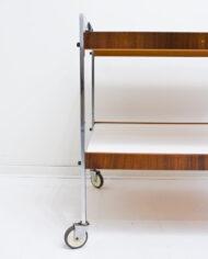 Rechthoekige vintage barcart in de stijl van Fabricius – Kastholm