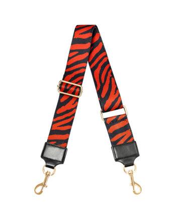 Rode zebraprint schouderband voor tassen