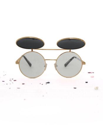 Ronde-metalen-opklap-zonnebril-unibrow-goud-350x435.jpg