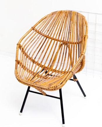 Rotan stoel vintage Rohé Noordwolde