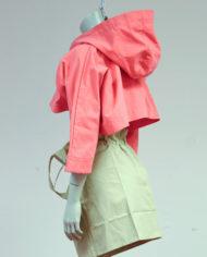 Roze-cropped-Margiela-jasje-met-capuchon-MM6-2