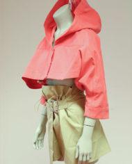 Roze-cropped-Margiela-jasje-met-capuchon-MM6-3