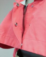Roze-cropped-Margiela-jasje-met-capuchon-MM6-4