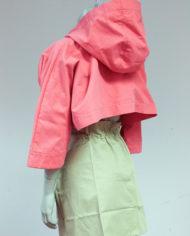 Roze-cropped-Margiela-jasje-met-capuchon-MM6-5