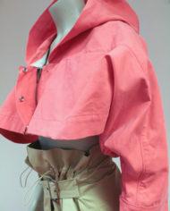 Roze-cropped-Margiela-jasje-met-capuchon-MM6-6