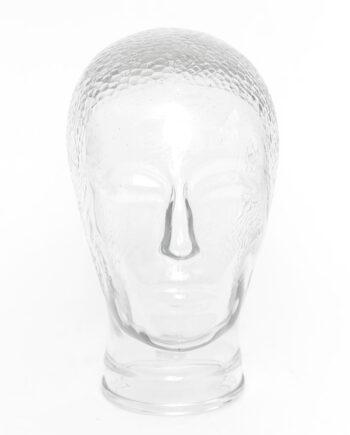 Seventies beeld hoofd van glas vintage