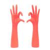 Sieradenhouders handen neon roze - set van 2