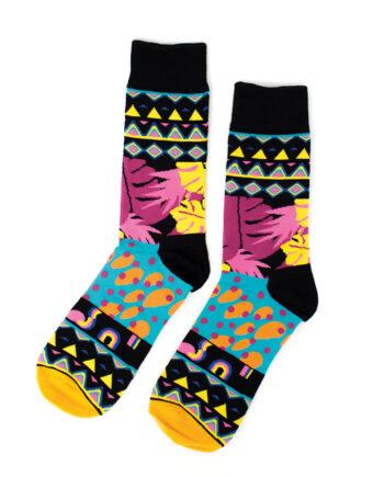 Sokken met kleurrijk patroon