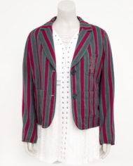 Sonia Rykiel jasje met grijze, rode en groene strepen