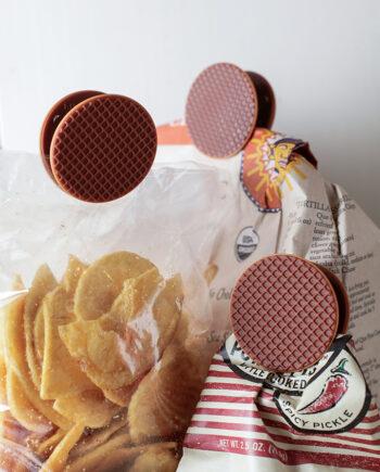 Stroopwafel clips Kikkerland - set van 4