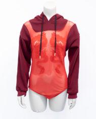 Studio Bolder hoodie met mesh body rood