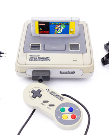 Super Nintendo vintage SNES 1992 Super Mario World 1 controller RCA aansluiting nieuwe adapter