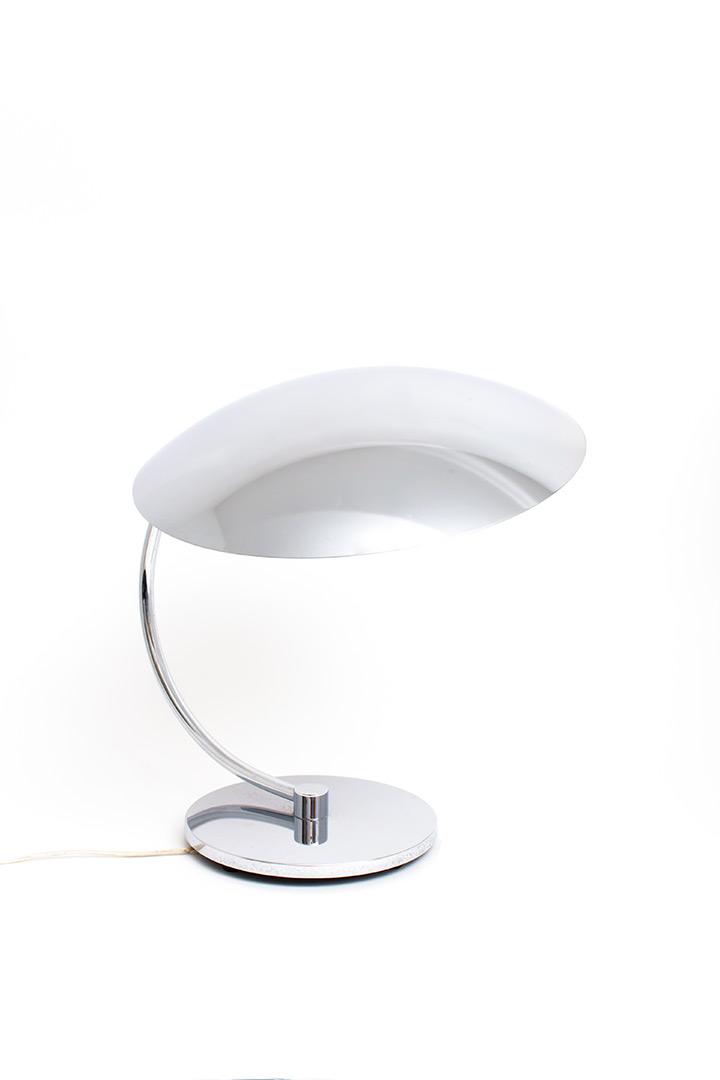 Tafellamp van chroom voor SCE France jaren 70
