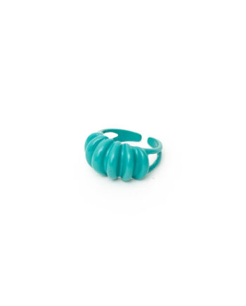Turkooizen candy color ring gecoat metaal