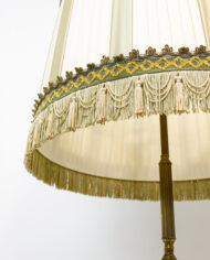 Vintage Art Deco vloerlamp met details van messing en marmer