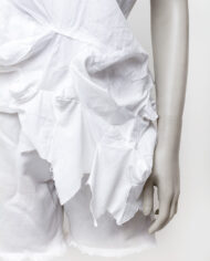 Vintage Comme des Garçons top van wit katoen met ingezette sterren