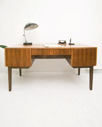 Vintage Grigat jaren 60 bureau met boekenplank